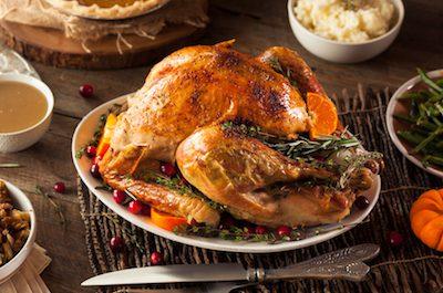 Heritage bronze turkey on platter